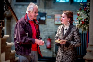 Kate Russel-Smith as Doris with an audience member. Image copyright Jamie Smith