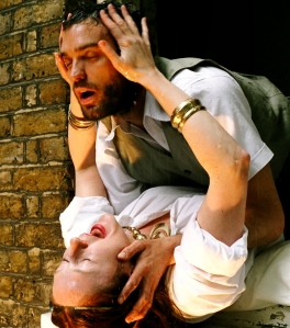 Sarah Thom as Dido, Jake Maskall as Aeneas